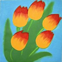 Blue Sky Tulips by Susie Perring