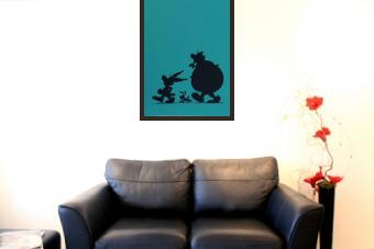 Asterix, Obelix and Dogmatix in Silhouette
